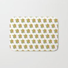 Abstract France Bright Earth Bath Mat