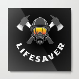 Firefighter Gift Metal Print