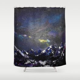 Mountains in night Shower Curtain