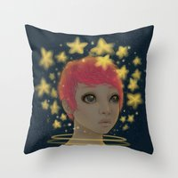 astronaut Throw Pillows featuring Astronaut by Edge