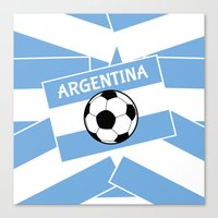 argentina Canvas Prints featuring Argentina Football by mailboxdisco
