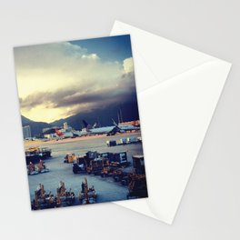 Dawn at Chek Lap Kok Stationery Cards