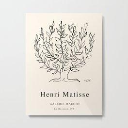 Exhibition poster Henri Matisse-Le buisson-1951. Metal Print