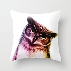 The wise Mr. Owl Throw Pillow
