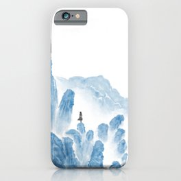 Girl in the mountains iPhone Case