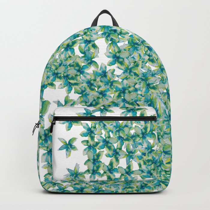 Blue and Yellow Forget Me Knots Backpack