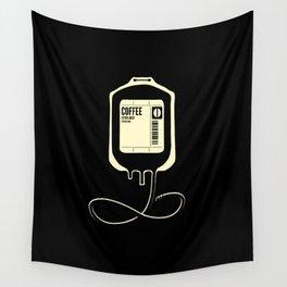 Coffee Transfusion - Black Wall Tapestry