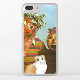 Ppl R Weird handcut collage Clear iPhone Case