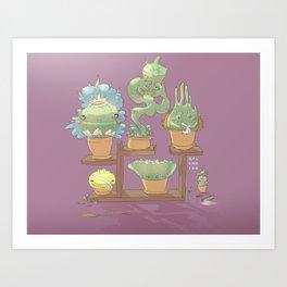 August's Plants Art Print