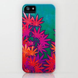 Turquoise Cannabis Field iPhone Case