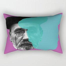 Emile Zola portrait purple blue Rectangular Pillow