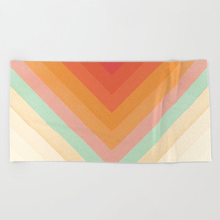 Rainbow Chevrons Beach Towel