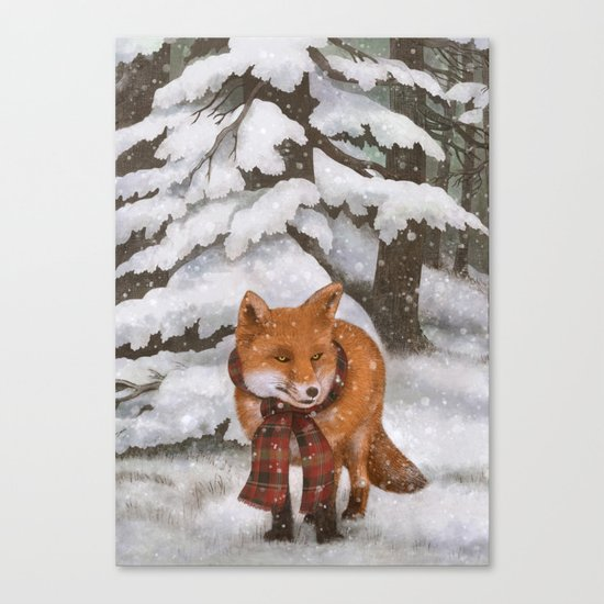 Winter Fox Canvas Print