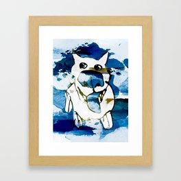 Citydog summergrunge Framed Art Print