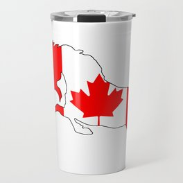 """Unicorn """"Canada"""" Travel Mug"""