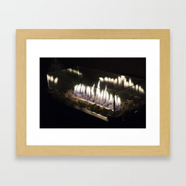 Flames in the Night Framed Art Print