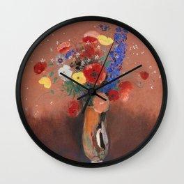 Odilon Redon Bouquet of Flowers 1912 Wall Clock