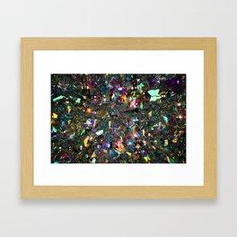 Rainbow Crystals Framed Art Print