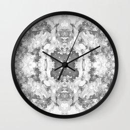 Abstract 20 Gray Wall Clock