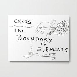 Cross The Boundary Metal Print