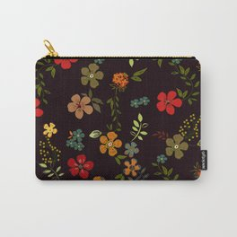 Floral Pattern Colorful Design Carry-All Pouch