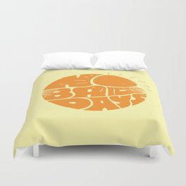 No Bad Days Retro Sun Duvet Cover