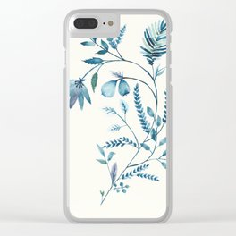 blue plants Clear iPhone Case