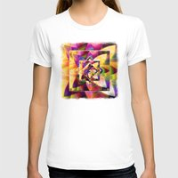 kandinsky T-shirts featuring Number 1 Abstract by Mark Compton by Mark Compton