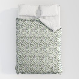 Abstract Watercolor Forest Comforters