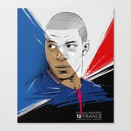 Kylian Mbappé Canvas Print