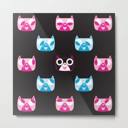 We are watching you. MEOW x 4 Metal Print