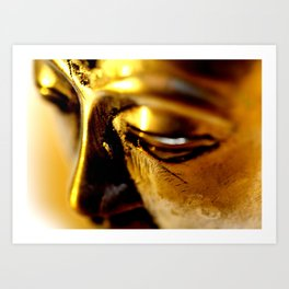 Buddha Face Close Up Art Print