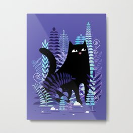 The Ferns (Black Cat Version) Metal Print