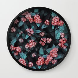 Berry-like floral Wall Clock