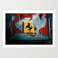 ferrari Art Prints featuring Ferrari by Jean-François Dupuis