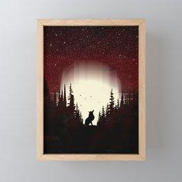 Red Forest Fox Framed Mini Art Print