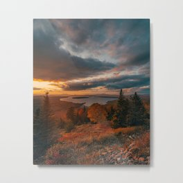 Height of Land Sunset Metal Print