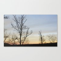 rileigh smirl Canvas Prints featuring Sunset by Rileigh Smirl