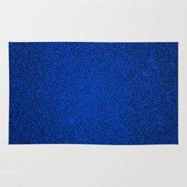 Tanzanite Blue Sparkling Jewels Pattern Rug