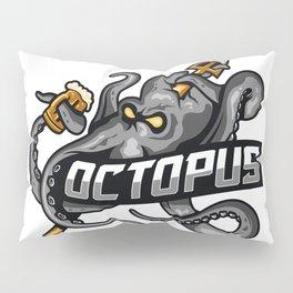 Octopus Injured Illustration Pillow Sham