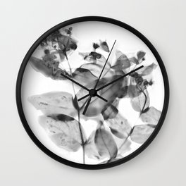 Ghostly Blooms Wall Clock