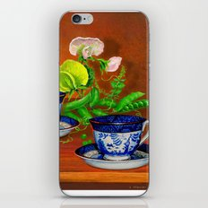 Teacups with Snap Peas iPhone & iPod Skin