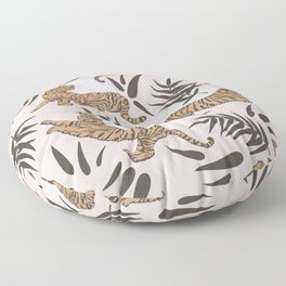 Tigers and Bamboo Leaves Floor Pillow