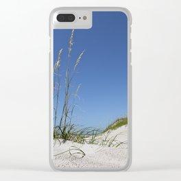 Beach Grass Clear iPhone Case