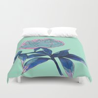 peony Duvet Covers featuring Peony by Ludovic Jacqz