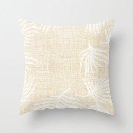 PALM LINEN Throw Pillow