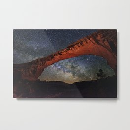 Milky Way through Natural Bridges National Monument Metal Print