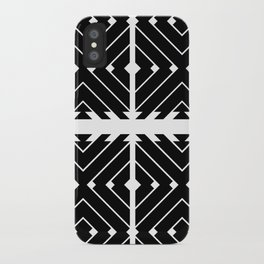 MONOCHROMA Geometrica : Black & White Box Pattern iPhone Case