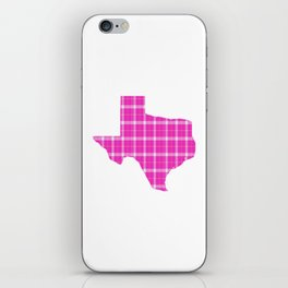 Texas State Shape: Pink iPhone Skin