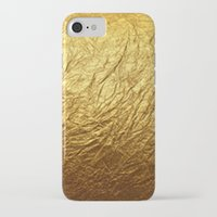 gold foil iPhone & iPod Cases featuring Gold Foil by digital detours